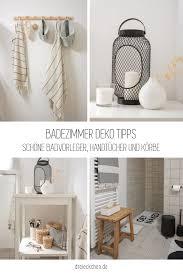 badezimmer deko tipps badvorleger handtücher und körbe