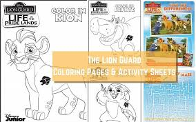 Download And Print These Free Printable The Lion Guard Coloring Pages Activity Sheets To Explore