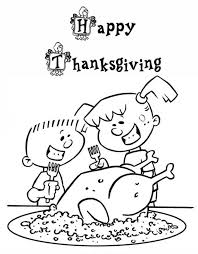 Kids Coloring Pages Printable Thanksgiving