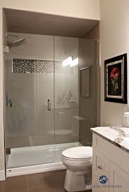 Small Bathroom With Walk In Shower. Glass Doors, Fibreglass Base ... Walk In Shower Ideas For Small Bathrooms Comfy Sofa Beautiful And Bathroom With White Walls Doorless Best Designs 34 Top Walkin Showers For Cstruction Tile To Build One Adorable Very Disabled Design Remodel Transitional Teach You How Go The Flow