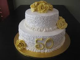 50th Wedding Anniversary Cake Made By Glaus Bakery In Salt Lake City UT