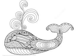 Click To See Printable Version Of Whale Zentangle Coloring Page