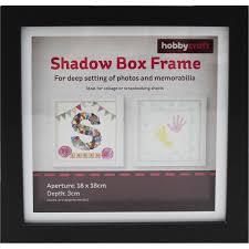 Black Shadow Box Frame 18cm X 18cm