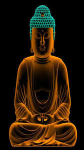 Lighting Lord Buddha With Black Background Iphone Full Hq Wallpapers
