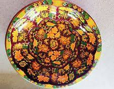 Daher Decorated Ware 11101 by Vintage Daher Decorated Ware 11101 Oval Tin Metal Bowl Made In