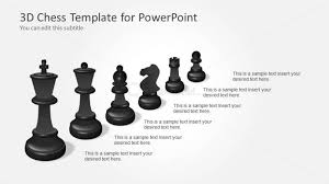 3D Chess Pieces Template For PowerPoint