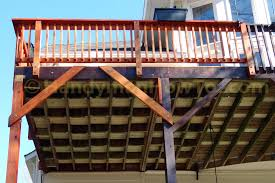 Free Standing Deck Bracing by How To Repair A Sagging Wood Deck