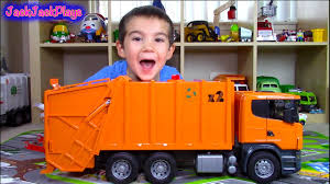 100 Garbage Truck Video Youtube Bruder Scania Surprise Toy UNBOXING Playing Recycling