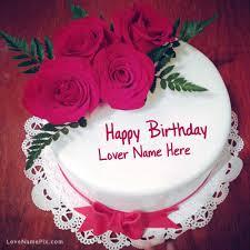 pretty birthday cake lover roses birthday cake and romantic birthday cake image