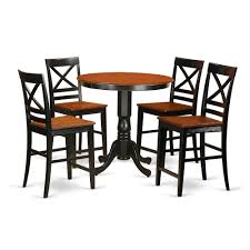 5 Pc Counter Height Table And Chair Set - High Top Table And 4 Counter  Height Stool. By East West Furniture Kitchen Design Counter Height Ding Room Table Tall High Hightop Table With 4 Leather Chairs Top Hanover Monaco 7piece Alinum Outdoor Set Round Tiletop And Contoured Sling Swivel Chairs High Kitchen Set Replacement Scenic Top Wning Amazing For Sets Marble Square And Glass Small Pub Style Island Home Design Ideas Black Cocktail Low Tables Astonishing Rooms Modern Wood Dark 2