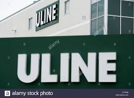 A Logo Sign Outside Of Facility Occupied By Uline In Brampton Ontario Canada