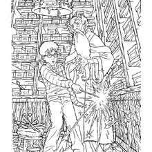 Albus Dumbledore Out And Harry Potter Coloring Page