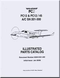 100 Airplane Wing Parts Pilatus PC12 Aircraft Illustrated Catalog Manual English Language