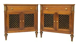 Kindel Furniture Co. Belvedere Collection Nighstands - A Pair Kindel Fniture Cherry Banquetstyle Ding Room Table 1960s Breakfront Cabinet Rigakublogcom Details About L46708ec Set Of Kindel Shield Back Carved Mahogany Chairs Vintage Belvedere Spoonback Of 6 Rare Sofas Storage Cabinets More Hickory Chair Bedroom Chest 156673 Studio 882 The Arts French Country 4 Regency Style Wall Mirror Thomasville Fniture Tableau Collection Cane Arm 70195 233246 One Drawer Lamp Side End From Philly Pladelphia Attic