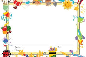 Kids School Page Borders Free Printable Stationery Pretty Designs Here BORDERS Toy Border Templates Including Paper And