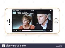 BBC iPlayer streaming movie on iPhone 5S Apple free App for