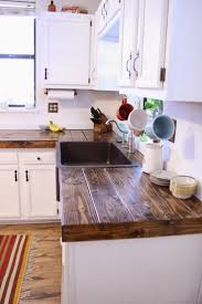 Cheap Countertop Idea COVER FORMICA WITH BOARDS Screw Them In Place Then Refinish To Look Like Butcher Block Counter Tops