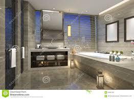 100 Modern Luxury Design 3d Rendering Night View Bathroom With