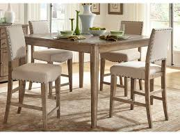 Weatherford Rustic Casual 5 Piece Gathering Table Set By Liberty Furniture  At Johnny Janosik