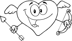 Cute Love Coloring Page To Print Of Happy Heart For Kids 300x173