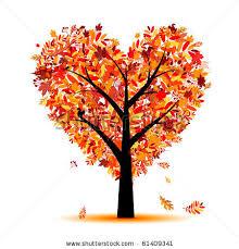 Fall Heart Tree Clipart 1