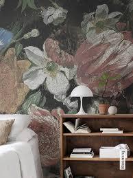 tapeten schlafzimmer blumen caseconrad