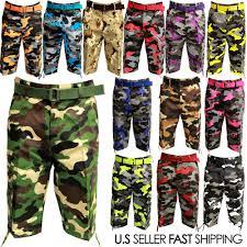 big and tall btl camoflauge cargo shorts belt camo shorts cotton