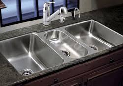 bowl sinks simple awesome three compartment kitchen sink