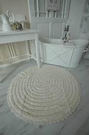 badläufer badteppich dusch vorleger creme xl rund frottee