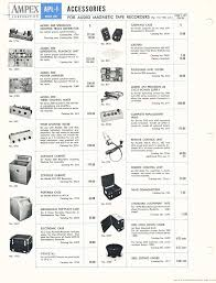 1952 Ampex Equipment And Accesories Price List In Reel2ReelTexass Vintage Recording Collection