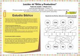 Lección 43 U201cÚtiles Y Productivosu201d Iglesia De Niños