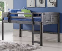Amherst Low Loft Bed Antique Grey 790AAG Donco Trading