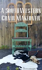 A Southwestern Chair Makeover DIY Furniturepainting Paintedfurniture Homedecor Refurbish