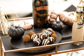 Pumpkin Spice Baileys by How To Throw A Decadent Rose Gold And Black Halloween Party Brit