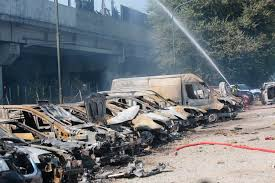 100 Truck Explosion Milan Video Shows Tanker In Italy 2 Killed Up To