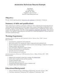 Auto Mechanic Job Requirements Automotive Technician Resume Description Best Resumes Service