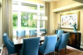 Blue Dining Room Chairs Fabric Upholstered Light
