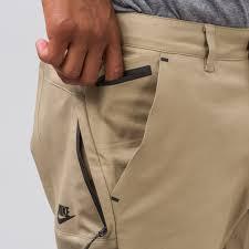 nike sportswear bonded pants in khaki notre