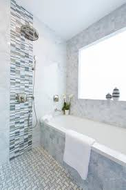gray glass shower accent tiles with shower