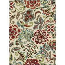 Teal Living Room Rug by 8 X 10 Large Teal Blue Ivory U0026 Red Area Rug Deco Rc Willey