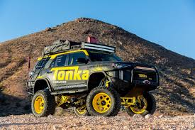 Toyota Made A Real-Life Tonka Truck, And It's Blowing Our Childlike ... Toyota Hilux Tonka Truck Behind The Wheel Amazoncom Toughest Mighty Handle Color May Vary Real Life Album On Imgur Made A Reallife And Its Blowing Our Childlike Large Metal Dump Huge 42cm Sandpit Cstruction Vehicle Ford Built Based 2016 F750 W Trex A 11 Scale Big Boys Toy Off Road Xtreme Dump Truck Becomes Big Draw At Science City The Kansas Rusty Metal Tonka Trucks Nostalgia Mantique Colctiblestonka Allied Van Lines Fords Youtube