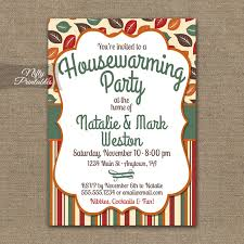 Fall Housewarming Party Invitations Printable House Warming