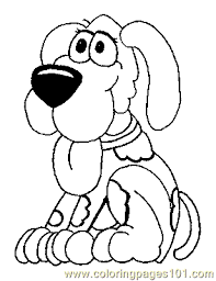 Dog Puppy Coloring Page 01