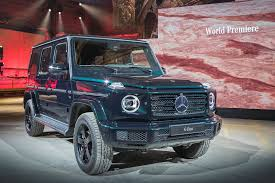 Mercedes G-class (2018): Pictures, Specs And Info | CAR Magazine Mercedesbenz Limited Edition Gclass 2018 Mercedes The Ultimate Buyers Guide Brabus Style G900 One Of 10 Carbon Hood G65 W463 Black G Class Goes Through Brabus Customization Caridcom Random Inspiration 288 Lgmsports Enclosed Auto Transportexotic 2019 Gclass Driven Less Crazy Still Outrageous Wikipedia Prior Design 55 Amg Chelsea Truck Co 16 March 2017 Autogespot Price Trims Options Specs Photos