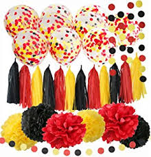 Amazon Qian s Party Mickey Mouse Color Party Supplies Yellow
