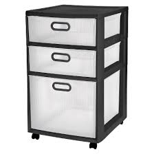 sterilite ultra 3 drawer storage cart black target get