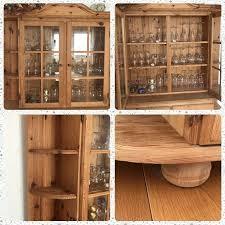 hochwertige kiefernholz esszimmermöbel vitrine tisch