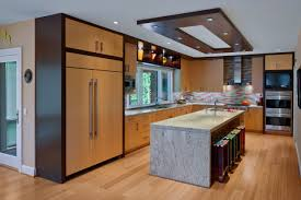 fireplace large kitchen island with ceiling lighting and kitchen