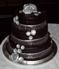Poured Chocolate Ganache 3 Tier Wedding Cake On Central