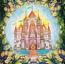 Castle Leaves Enchanted Forest Castelo Floresta Encantada Johanna Basford Great BooksColoring